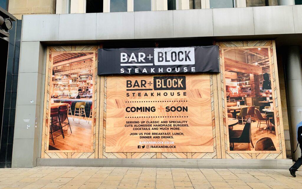 Edinburgh Princes Street Barblock July 2021 Hoardings